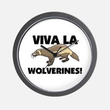 Viva La Wolverines Wall Clock