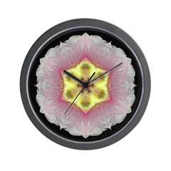 Hollyhock I Wall Clock
