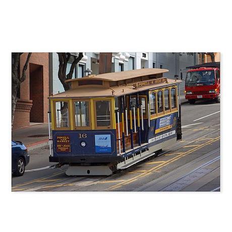 san fran trolley Postcards (Package of 8)