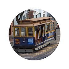 "san fran trolley 3.5"" Button"