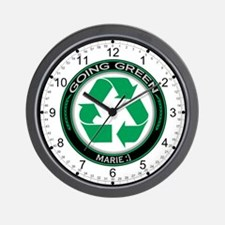 Going Green Recycle marie :] Wall Clock