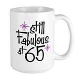 65 and fabulous Large Mugs (15 oz)