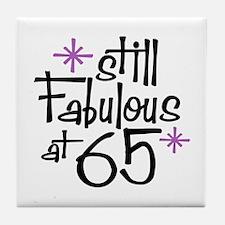 Still Fabulous at 65 Tile Coaster