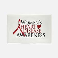 Women's Heart Disease Rectangle Magnet
