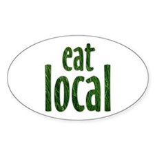 Eat Local - Oval Decal