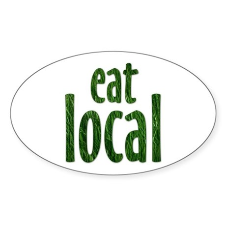 Eat Local - Oval Sticker