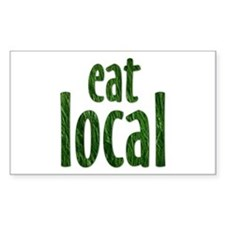 Eat Local - Rectangle Decal