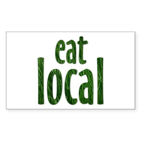 Eat Local - Rectangle Sticker