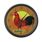 Buttercup Rooster Large Wall Clock