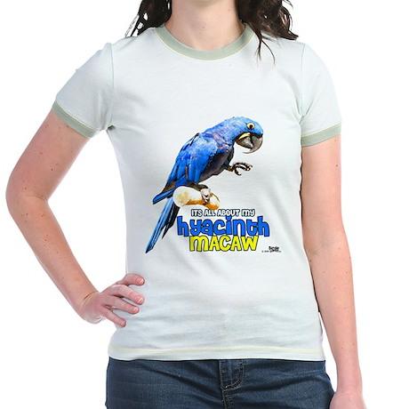 Hyacinth Macaw Jr. Ringer T-Shirt