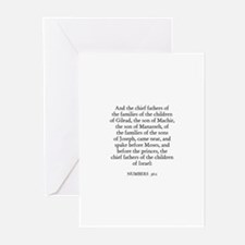 NUMBERS  36:1 Greeting Cards (Pk of 10)