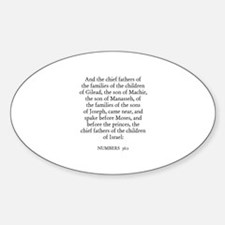 NUMBERS 36:1 Oval Decal