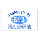 Property of Hashem Rectangle Sticker