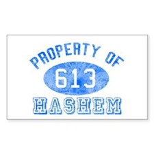 Property of Hashem Rectangle Decal