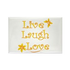 Live Laugh Love Rectangle Magnet
