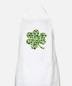 Shamrocks in a Shamrock BBQ Apron