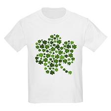 Shamrocks in a Shamrock T-Shirt