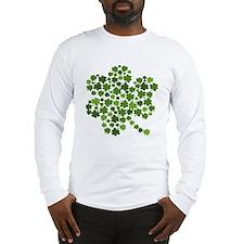 Shamrocks in a Shamrock Long Sleeve T-Shirt
