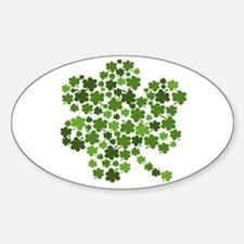 Shamrocks in a Shamrock Oval Decal
