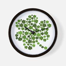 Shamrocks in a Shamrock Wall Clock