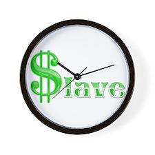 Money Slave Wall Clock