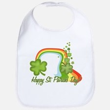Classic Rainbow and Shamrocks Bib