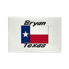 Bryan Texas Rectangle Magnet