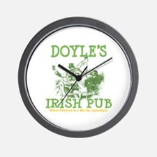 Doyle's Vintage Irish Pub Personalized Wall Clock