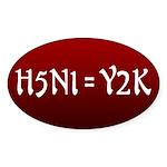 H5N1 = Y2K Viral Bumper Sticker