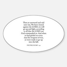 DEUTERONOMY 1:41 Oval Decal