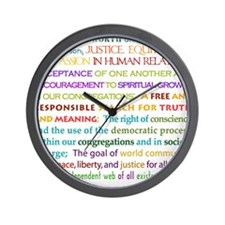 UU Principles Wall Clock