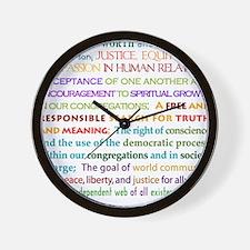 UU Principles Wall Clock