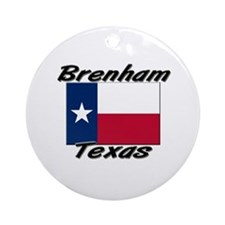 Brenham Texas Ornament (Round)