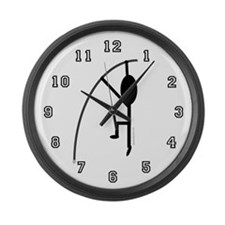 Unique Polevaulter Large Wall Clock