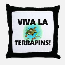 Viva La Terrapins Throw Pillow