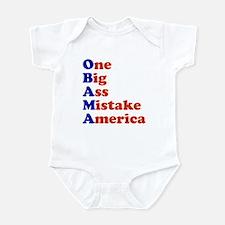 Obama: One Big Ass Mistake America Infant Bodysuit