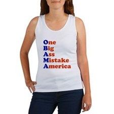 Obama: One Big Ass Mistake America Women's Tank To