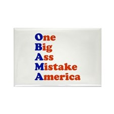 Obama: One Big Ass Mistake America Rectangle Magne