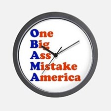 Obama: One Big Ass Mistake America Wall Clock