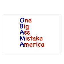 Obama: One Big Ass Mistake America Postcards (Pack