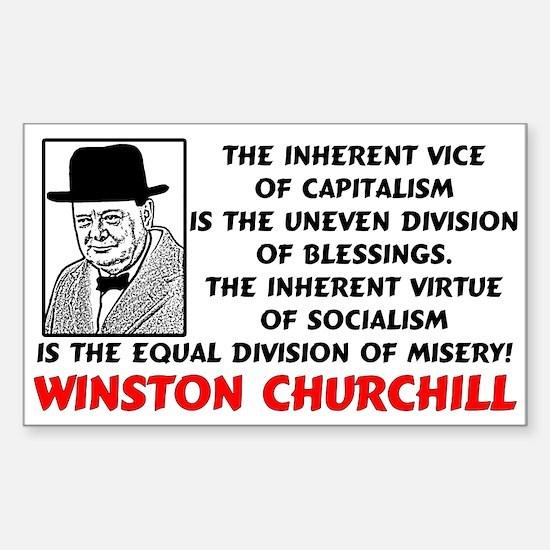 """Churchill: Socialism Is Misery!"" Sticke"