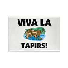 Viva La Tapirs Rectangle Magnet
