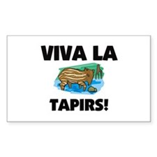 Viva La Tapirs Rectangle Decal