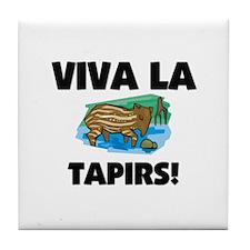 Viva La Tapirs Tile Coaster