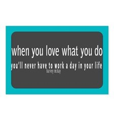 Love what you do! Postcards (Package of 8)