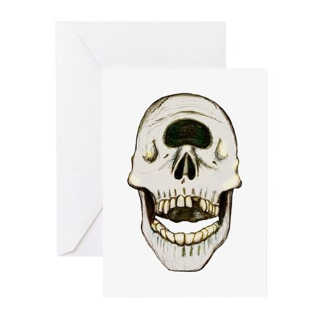 Cylcops Skull Greeting Cards (Pk of 20)