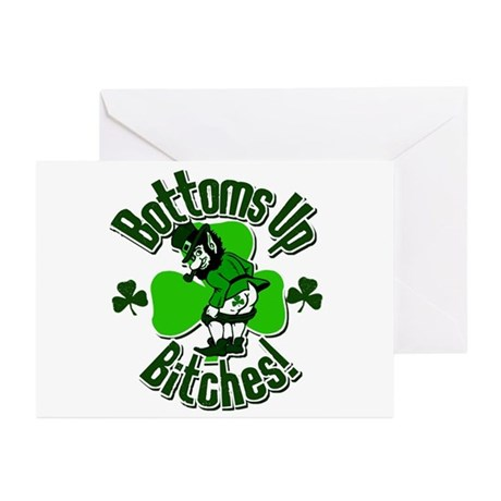 Bottoms Up Bitches! Greeting Cards (Pk of 20)