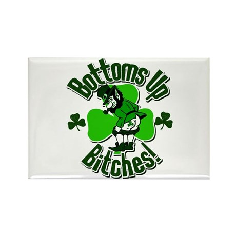 Bottoms Up Bitches! Rectangle Magnet (100 pack)