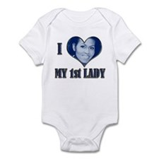 I (Heart) My 1st Lady (B) - Infant Bodysuit