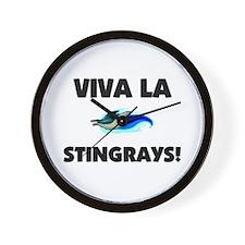 Viva La Stingrays Wall Clock